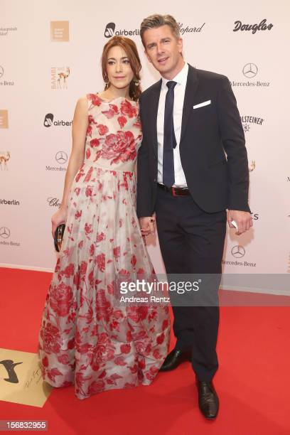 Markus Lanz and Angela Lanz attend 'BAMBI Awards 2012' at the Stadthalle Duesseldorf on November 22 2012 in Duesseldorf Germany
