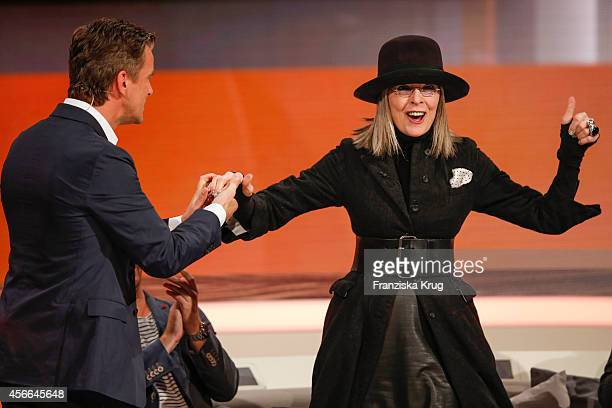 Markus Lanz and Diane Keaton attend Wetten dass from Erfurt on October 04 2014 in Erfurt Germany