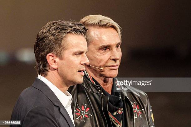 Markus Lanz and Wolfgang Joop attend Wetten dass from Erfurt on October 04 2014 in Erfurt Germany