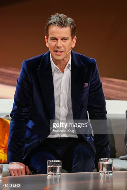 Markus Lanz attends the last broadcast of the 'Wetten dass TV show' on December 13 2014 in Nuremberg Germany