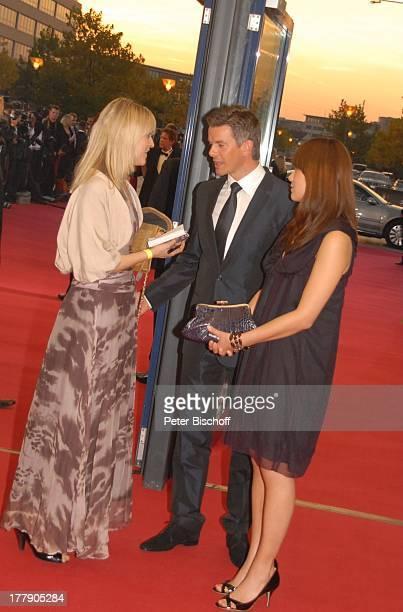 """Markus Lanz, Freundin Angela Gessmann , Presse-Redakteurin, ZDF-Gala Verleihung """"Deutscher Fernsehpreis 2008"""", """"Coloneum"""", Köln, Nordrhein-Westfalen,..."""