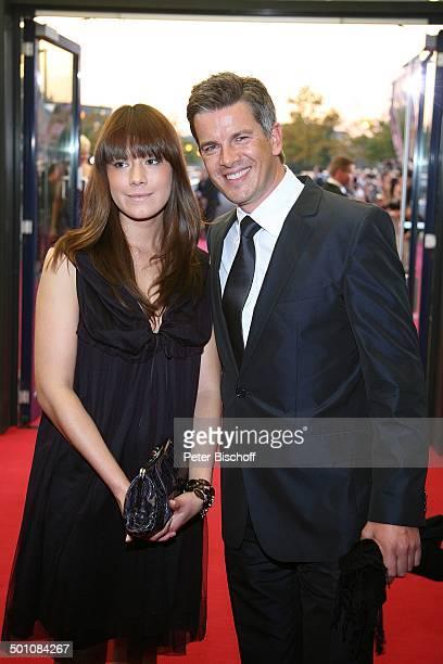 Markus Lanz Freundin Angela Gessmann ZDFGala Verleihung 'Deutscher Fernsehpreis 2008' 'Coloneum' Köln Deutschland Europa roter Teppich Party Feier...
