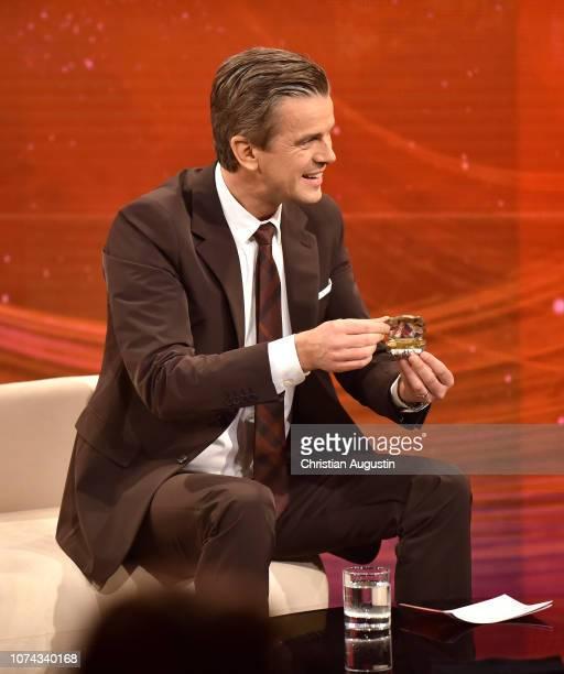 Markus Lanz hosts the TV show 'Menschen 2018 der ZDF Jahresrueckblick' at Phoenixhof on December 17 2018 in Hamburg Germany