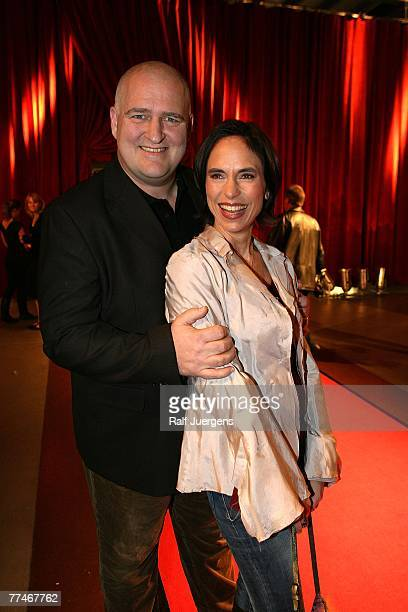 Markus Maria Profitlich and his wife Ingrid Einfeldt attend the German Comedy Award 2007 at the Coloneum October 23 2007 in Cologne Germany