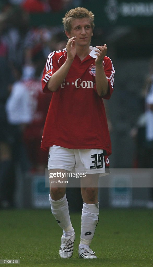 Markus Marin of Monchengladbach applauds after the Bundesliga match between Borussia Monchengladbach and Bayern Munich at the Borussia Park on May 5, 2007 in Monchengladbach, Germany.