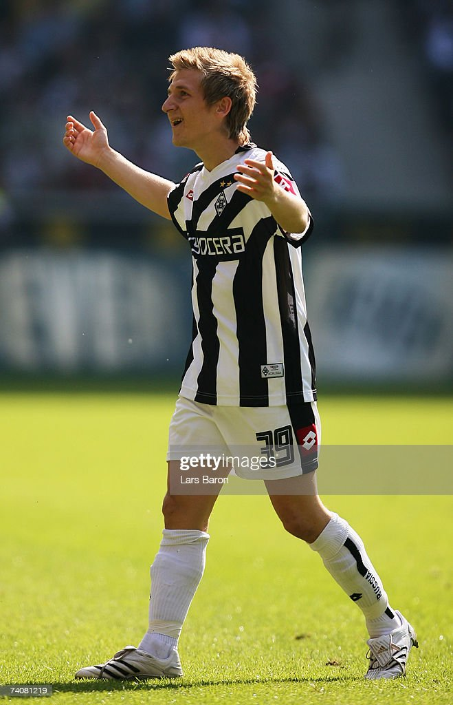 Markus Marin of Monchengladbach gestures during the Bundesliga match between Borussia Monchengladbach and Bayern Munich at the Borussia Park on May 5, 2007 in Monchengladbach, Germany.