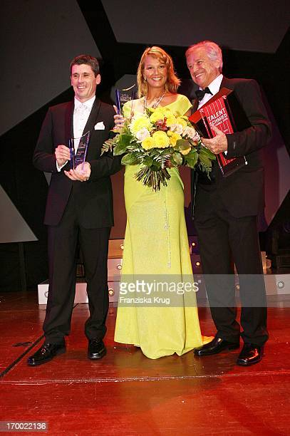 Markus Merk The with Franziska Van Almsick with Armin Hary 24th German Sports Press Ball In The Old Opera House in Frankfurt