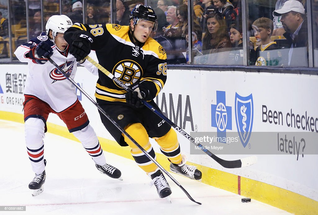 Columbus Blue Jackets v Boston Bruins : News Photo