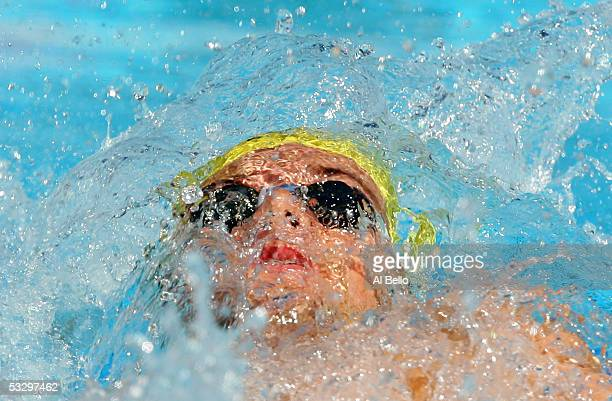 Markus Rogan of Austria competes in the preliminary heat of the 200 meter Backstroke during the XI FINA World Championships at the Parc JeanDrapeau...