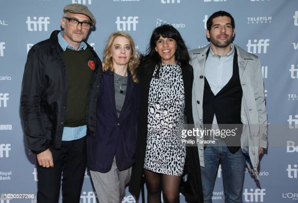 Markus Schleinzer Carol Morley Alejandra Márquez Abella and Benjamín Naishtat attend the 'Platform on Cinema Now' press conference during 2018...