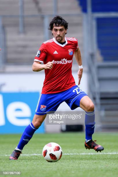 Markus Schwabl of Haching controls the ball during the 3 Liga match between KFC Uerdingen 05 and SpVgg Unterhaching at GrotenburgStadion on July 29...