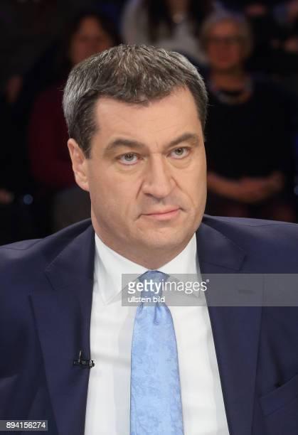 Markus Söder in der ZDFTalkshow maybrit illner am in Berlin Auf verlorenem Posten Scheitert Merkel an Europa