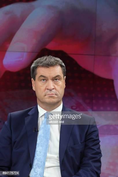 Markus Söder in der ZDFTalkshow maybrit illner am in Berlin Gier statt Reue Kommt die BankenKrise zurück