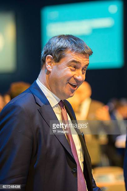 Markus Söder looks on during at the annual CSU party congress on November 04 2016 in Munich Germany