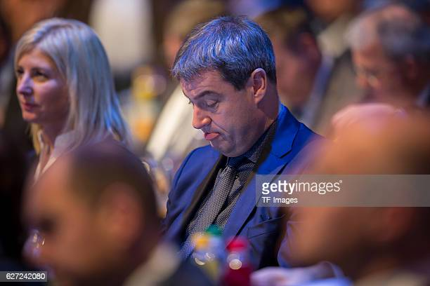 Markus Söder looks on during at the annual CSU party congress on November 05 2016 in Munich Germany