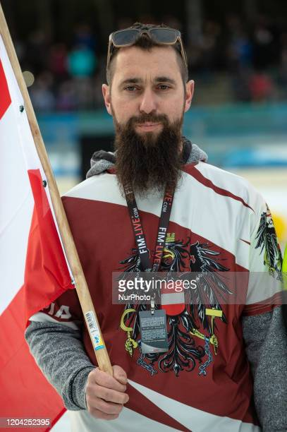 Markus Skabraut manger of Austria during theIce Speedway of Nations at the HorstDohmEisstadion Berlin on Saturday 29 February 2020