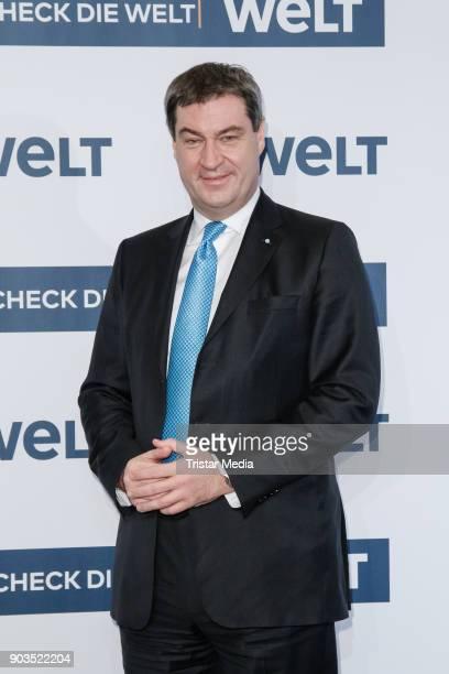 Markus Soeder attends the 'World Economic Summit ' 2018 on January 10 2018 in Berlin Germany