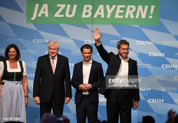 Markus Soeder Bavaria's State Premier and top candidate of the conservative Christian Social Union party for the regional elections in Bavaria...