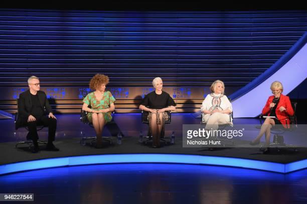 Markus Strobel Michaela Angela Davis Maye Musk Sheila Nevins and Lesley Stahl speak onstage at the 2018 Women In The World Summit at Lincoln Center...