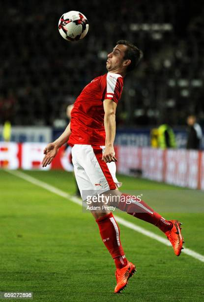 Markus Suttner of Austria in action during the Austria v Finland International Friendly match at Tivoli Stadium on March 28 2017 in Innsbruck Austria