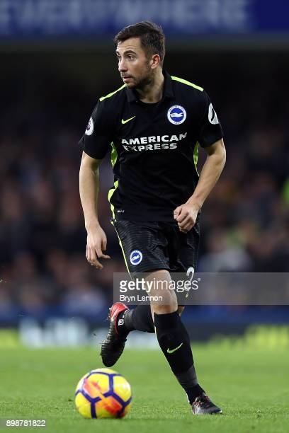 Markus Suttner of Brighton and Hove Albion in action during the Premier League match between Chelsea and Brighton and Hove Albion at Stamford Bridge...