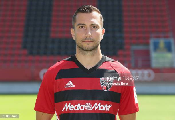 Markus Suttner of FC Ingolstadt poses during the team presentation at Audi Sportpark stadium on July 8 2017 in Ingolstadt Germany