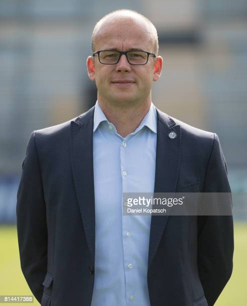 Markus Thiele of VfR Aalen poses during the team presentation of VfR Aalen at OSTALB ARENA on July 14 2017 in Aalen Germany