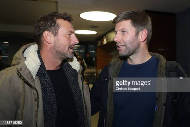 Markus Weinzierl and Thomas Hitzlsperger attend the Club Of Former National Players Meeting at Commerzbank Arena on November 19, 2019 in Frankfurt am...