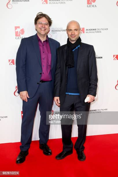 Markus Zander and Patrick Strauch during the German musical authors award on March 15 2018 in Berlin Germany