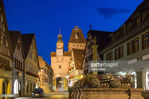 markusturm (markus tower) in rothenburg - frans sellies stock pictures, royalty-free photos & images