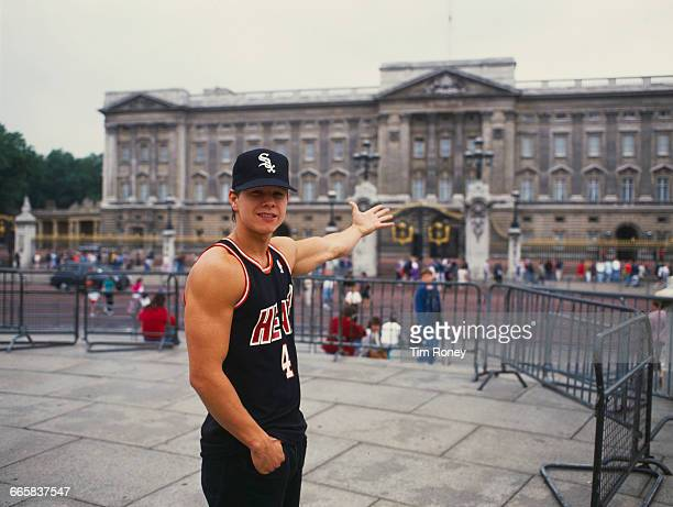 Marky Mark singer and rapper of the Funky Bunch outside Buckingham Palace London circa 1991