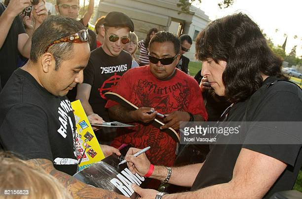 Marky Ramone attends the Tribute To Johnny Ramone at the Forever Hollywood Cemetery on August 1 2008 in Los Angeles California