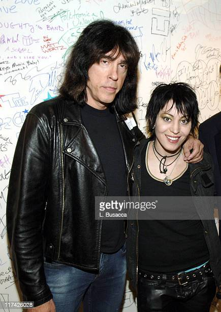 Marky Ramone with Joan Jett during The 39th Annual CMA Awards Luncheon at Sirius Satellite Radio at Sirius Satellite Radio Offices in New York City...