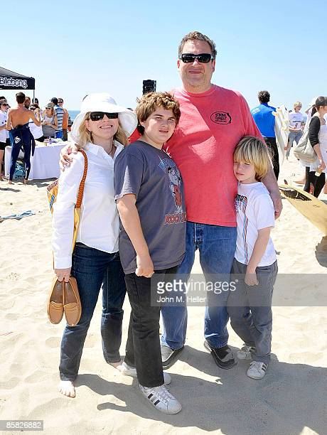 Marla Garlin and Jeff Garlin and his children attend the 2009 Project Save Our Surf 1st Annual Surfathon and Oceana Awards at Ocean Park Beach on...