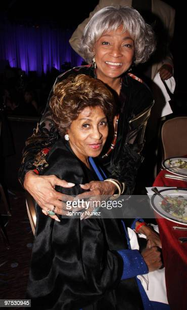 Marla Gibbs and Nichelle Nichols attend 11th Annual Uniting Nations Awards viewing and dinner after party at the Beverly Hilton hotel on March 7,...