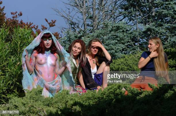 Marla Howard a Goddess after being painted by Star Oakland Star Oakland has organized a spiritual retreat high in the Santa Monica Mountains with an...