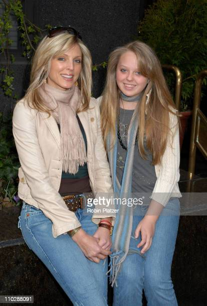 Marla Maples and daughter Tiffany Trump during Marla Maples and Tiffany Trump Sighting in New York March 28 2006 in New York City New York United...