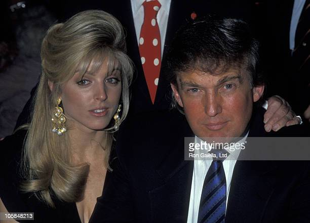 Marla Maples and Donald Trump during 80th Birthday Party For Joey Adams at Helmsley Hotel in New York City, New York, United States.