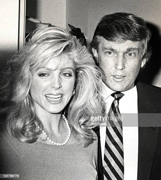 """Marla Maples and Donald Trump during Performance of """"The Will Rogers Follies"""" May 15, 1991 at Palace Theater in New York City, New York, United..."""