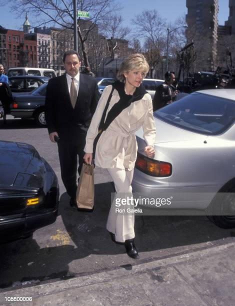 Marla Maples and her lawyer during Marla Maples Court Hearing at Federal Courthouse in New York City, New York, United States.