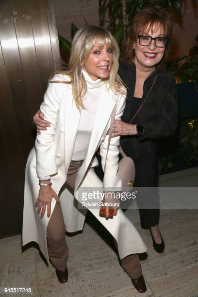 Marla Maples and Joy Behar attend The Hollywood Reporter's Most Powerful People In Media 2018 at The Pool on April 12 2018 in New York City