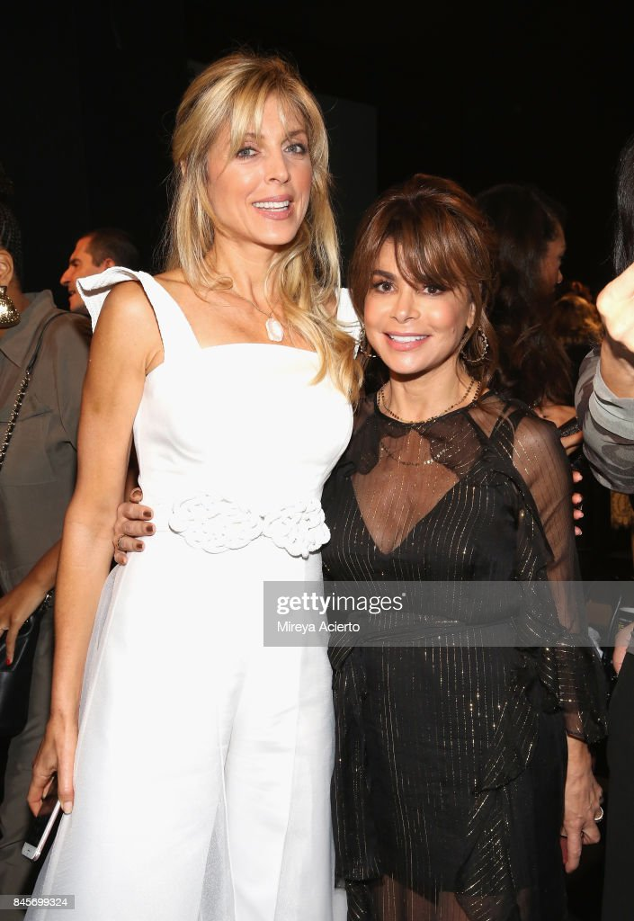 Marla Maples and Paula Abdul attend the John Paul Ataker fashion show during New York Fashion Week: The Shows at Gallery 1, Skylight Clarkson Sq on September 11, 2017 in New York City.
