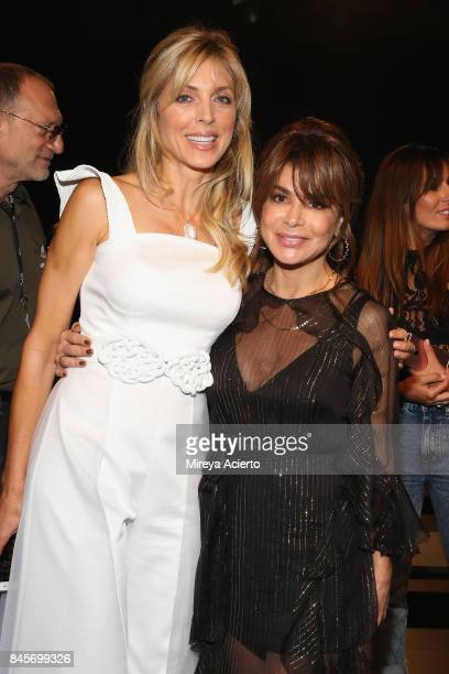 Marla Maples and Paula Abdul attend the John Paul Ataker fashion show during New York Fashion Week The Shows at Gallery 1 Skylight Clarkson Sq on...