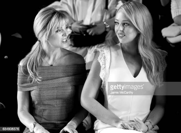Marla Maples and Tiffany Trump attend the Taoray Wang collection during New York Fashion Week The Shows at Gallery 1 Skylight Clarkson Sq on February...