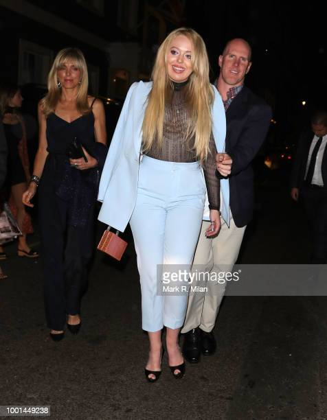Marla Maples and Tiffany Trump leaving the Arts Club on July 18 2018 in London England