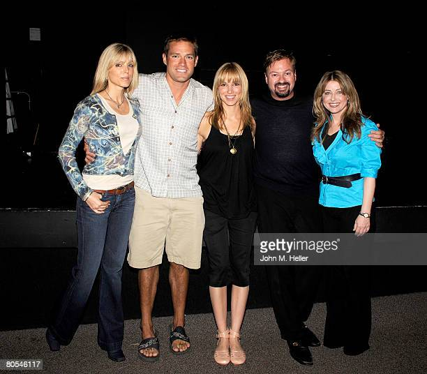 Marla Maples Andy Baldwin Deborah Gibson Howard Fine and Cynthia Bain attend the Hollywood Camp Electric Youth Auditions at the Howard Fine Studios...