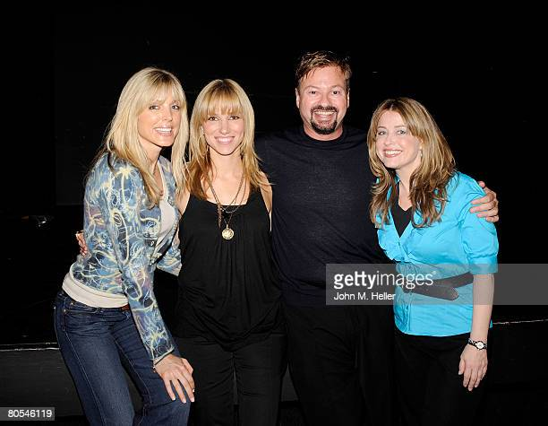 Marla Maples Deborah Gibson Howard Fine and Cynthia Bain attend the Hollywood Camp Electric Youth Auditions at the Howard Fine Studios on April 6...