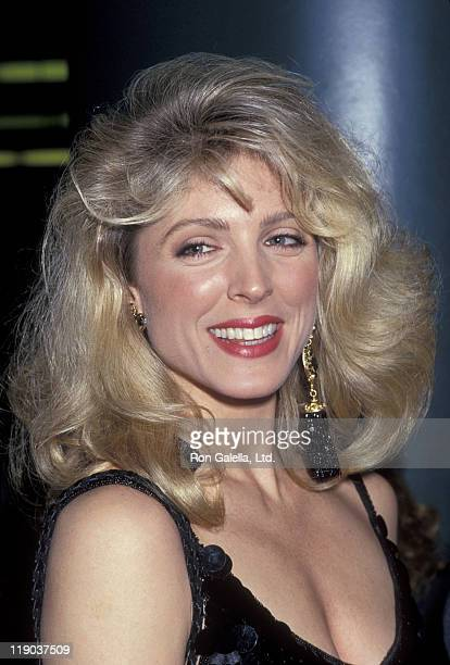 Marla Maples during Holyfield vs Foreman Fight April 19 1991 at Trump Plaza Hotel in Atlantic City New Jersey United States