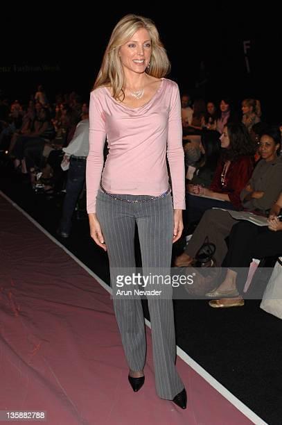 Marla Maples front row at Dina BarEl Spring 2006 during MercedesBenz Spring 2006 LA Fashion Week at Smashbox Studios Dina BarEl Front Row and...