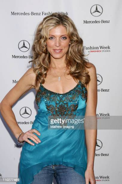 Marla Maples front row at Sue Wong Spring 2006 during MercedesBenz Spring 2006 LA Fashion Week at Smashbox Studios Sue Wong Front Row and Backstage...